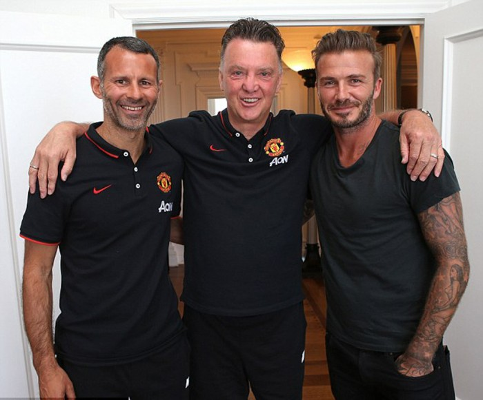 Beckham Temui Skuat Manchester United di Los Angeles