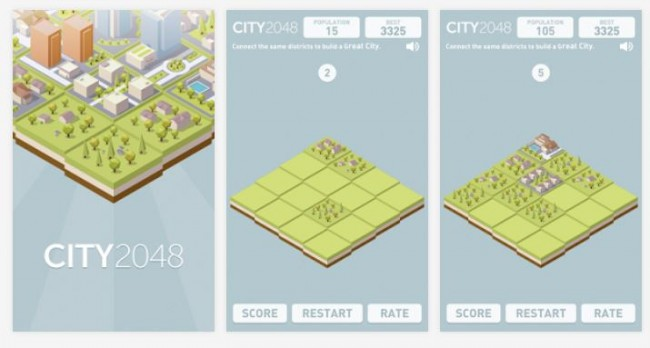 City 2048 Mainkan Kota ala 2048