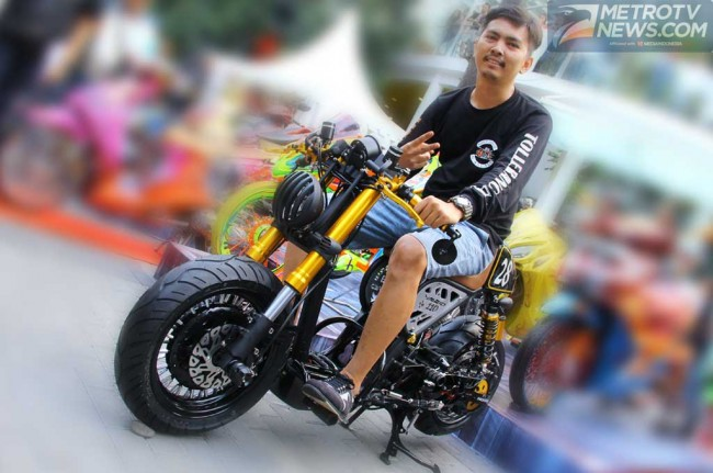 Matic Cafe Racer Garapan Ivan, Tetap Utamakan <i>Safety</i>