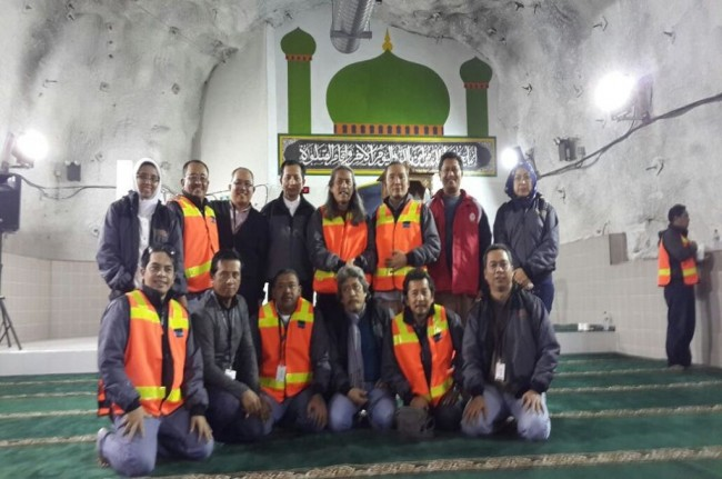 Mosque and Church Built in Freeport's Underground Mine