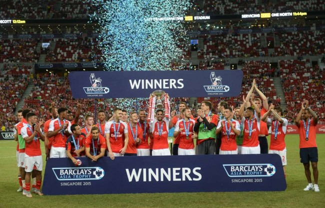 Arsenal Raih Gelar Premier League Asia Trophy