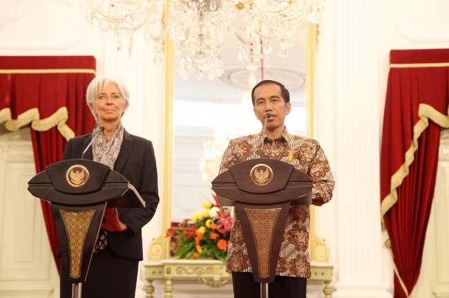 Jokowi and IMF Boss Discusses Economic Situation