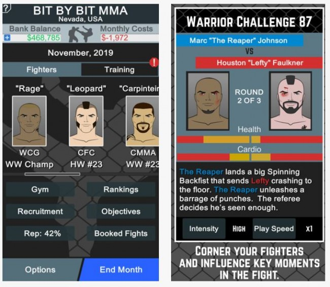 Game Simulasi MMA Manager Rilis di iOS dan Android