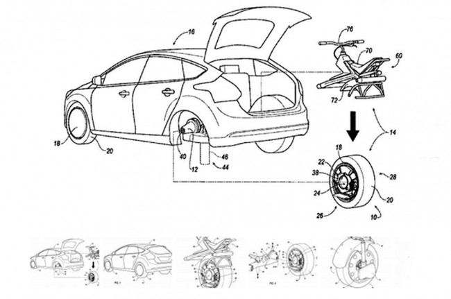 Ford Patenkan <i>Removable Wheels</i> dan <i>Unicycles</i>