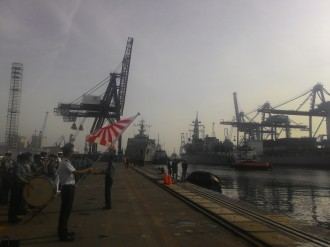 Two Japanese Destroyers Visit Indonesia