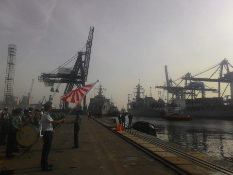 Two Japanese destroyers arrived in Tanjung Priok Harbor this morning (Photo: MTVN/Wahyu Dwi)