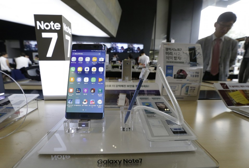 Galaxy Note 7. (AP Photo / ahn Young-joon)