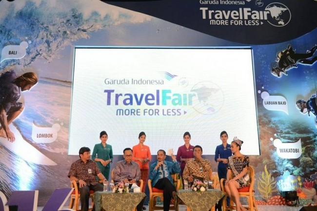 Menpar Arief Yahya Buka Garuda Travel Fair 2016 di JCC