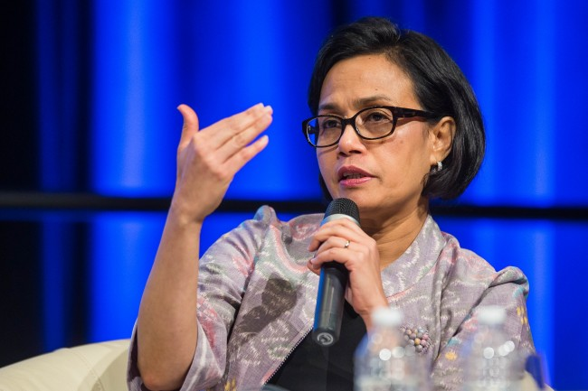 Sri Mulyani Expains Tax Amnesty at IMF-World Bank Annual Meetings