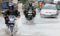 Braking on A Motorcycle in the Rain