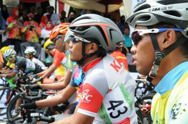 Etape I Tour de Linggarjati, Pebalap Indonesia Libas Garis Finish