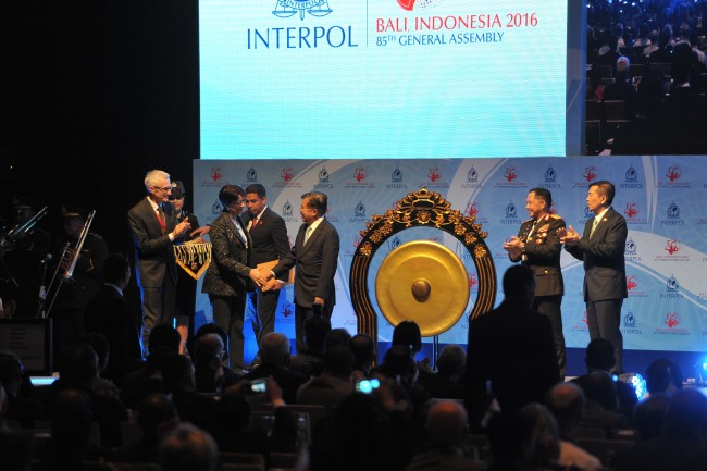 Kalla Opens 85th Interpol General Assembly in Bali