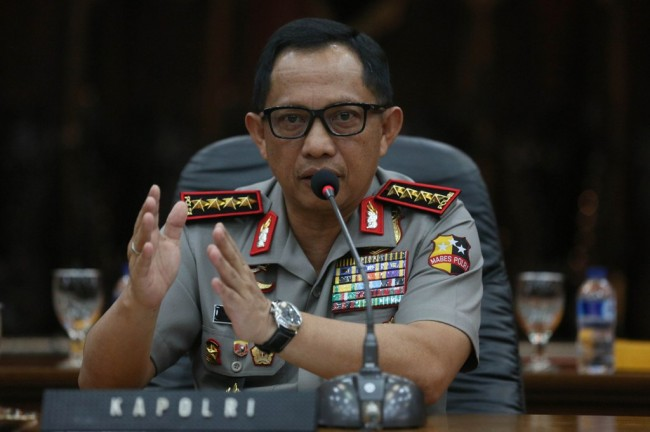 Visited MUI, National Police Chief try to Mantain Security Stability