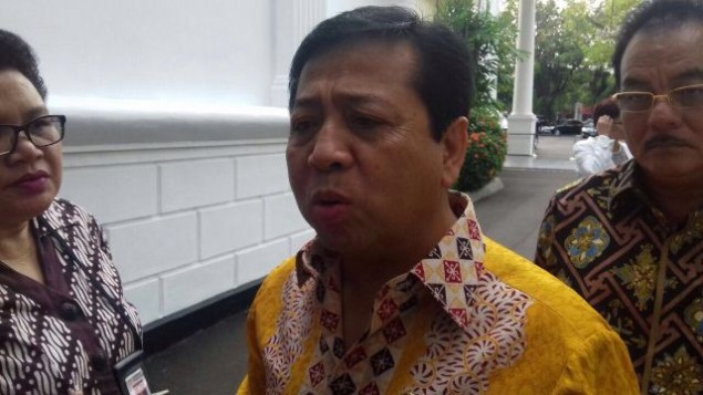 Golkar to Reinstate Setya Novanto as House Speaker