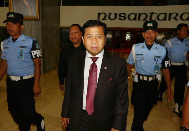 Setya Novanto Returns As House Speaker