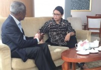 Retno Discusses Rakhine Situation With Kofi Annan