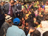 Retno Meets Rohingya Refugees in Bangladesh