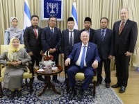 Indonesian Muslim Delegation Meets With Israeli President