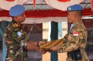 Indonesian Military Engineering Contingent Leave DR Congo