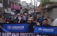 Refugees Stage Protest at UNHCR Office