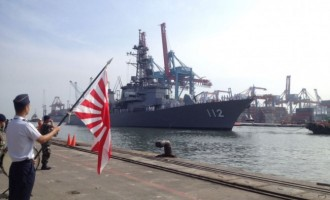 3 Japanese Navy Vessels Visit Indonesia