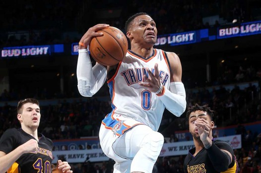 Thunder Tundukkan Lakers 110-93