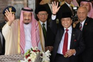 Setya Novanto Receives King Salman at Parliament Complex