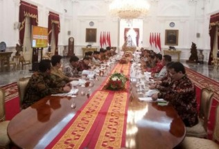 Jokowi Meets State Institution Leaders