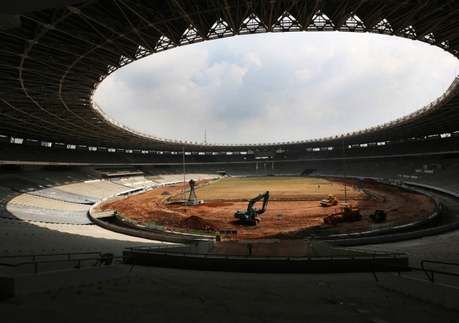 Arena Asian Games sudah 53,95%
