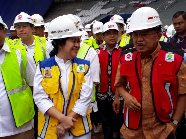 JK Puas dengan Progres Persiapan Asian Games 2018