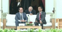 French President Hollande Visits Indonesia