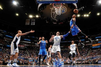 Westbrook 57 Poin, Thunder Gulung Magic 114-106