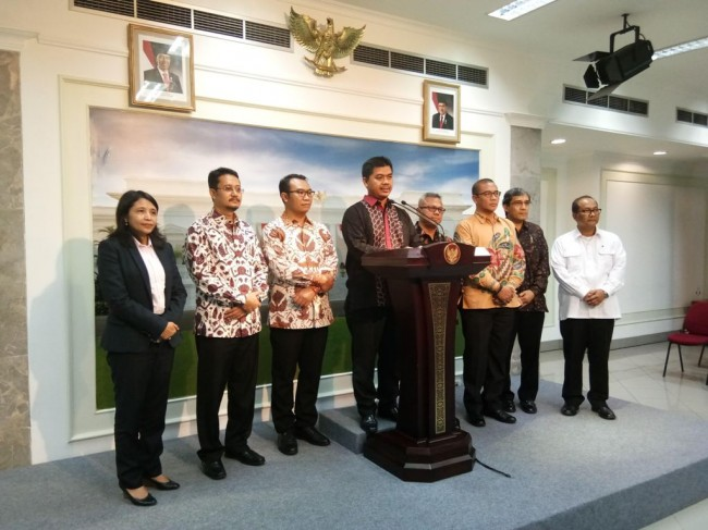 Jokowi Meets With KPU Leaders