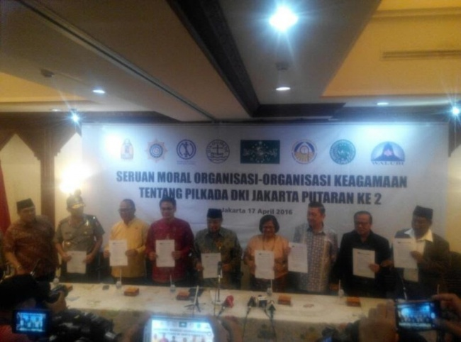 Interfaith Leaders Urge Peaceful Jakarta Election