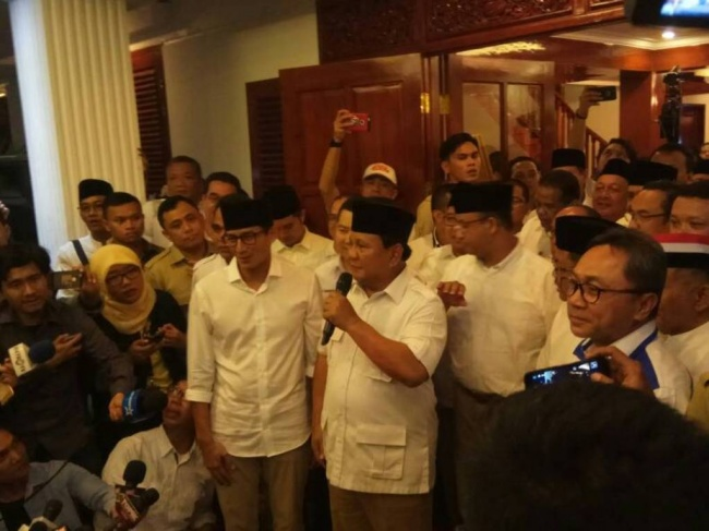 Gerindra Claims Anies-Sandiaga Pair's Victory