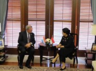 FM Retno Receives Luxembourgish Foreign Minister