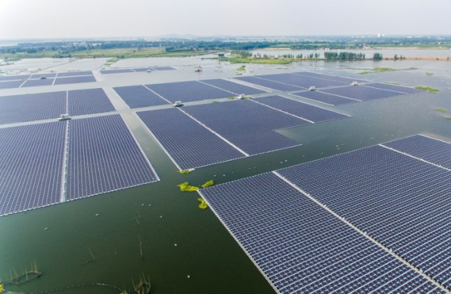 Floating Solar Farm Reflects China's Clean Energy Ambitions