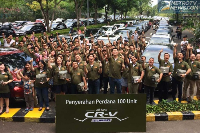 100 Unit All New Honda CR-V Turbo Resmi Pindah Tangan