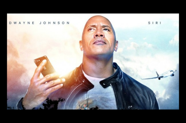 The Rock Gandeng Apple Siri di Film Terbarunya