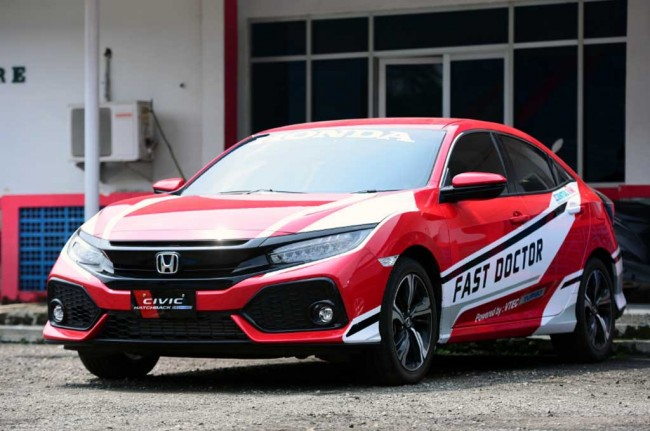 Honda Civic Hatchback Turbo Kawal Balap ISSOM