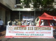 Protesters Hold Rally Against Perppu on Mass Organizations