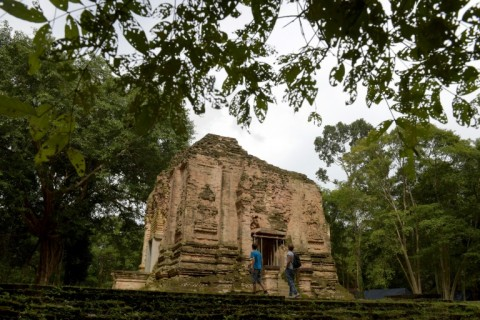 Sambor Prei Kuk, which means 'the temple in the richness of the forest', boasts nearly 300 brick temples and heaps of ruins across a 25 square kilometre compound. (Photo:AFP/Tang Chhin Sothy)