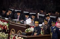 Jokowi Reads Financial Note for 2018 State Budget Draft