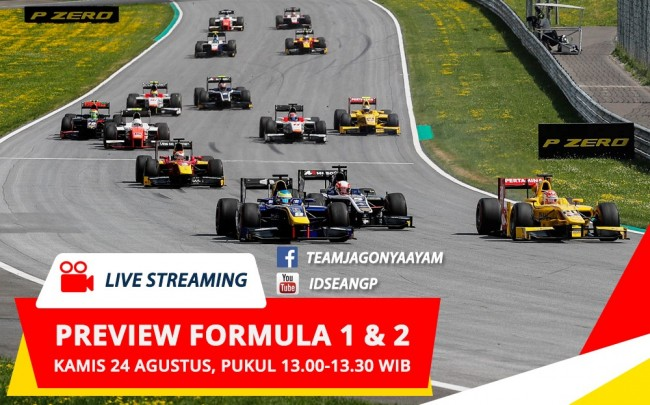 Saksikan, Livestreaming Preview F1 & F2 GP Belgia di Youtube & Facebook