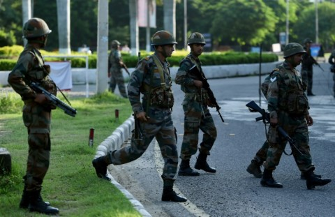 Security forces were put on high alert to ensure there was no repeat of the violence. (Photo:AFP/Money Sharma)