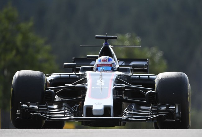 Romain Grosjean Happy Meraup Poin di GP Belgia