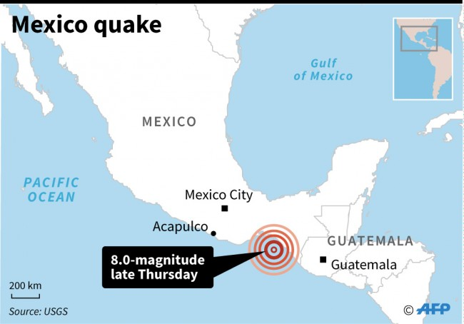 Tsunami Warning as Magnitude 8 Quake Rocks Mexico: USGS