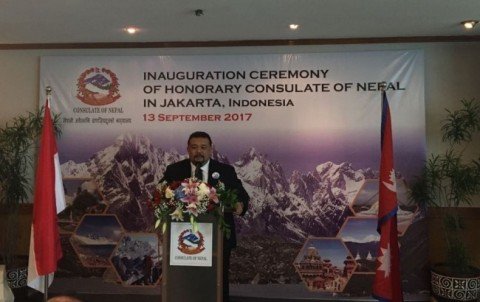 Nepal's Honorary Consul to Indonesia Bally Saputra Datuk Janosati (Photo:MTVN/Sonya)