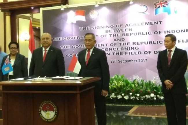 Indonesia-Fiji Sign MoU on Defence Cooperation