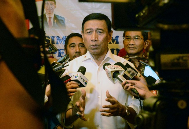 Wiranto Holds Meeting on Weapons Procurement Mechanism